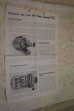 Istruzione per l'uso del Noris Triumpf 150 Spezial  (BI113) ^