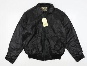 A.collection Mens Black   Bomber Jacket Coat Size L