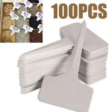 100Pcs Plastic Plant Labels T-type Tags Garden Seeding Nursery Marker Labeling