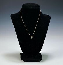 Estate 14k Gold Necklace with Diamond Solitaire Pendant