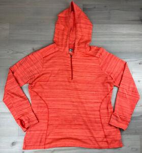 REI Women's Long Sleeve Hooded 1/4 Quarter Zip Activewear Pullover Size XL
