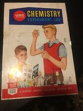 Vintage Gilbert Chemistry Experiment Lab - partial set + Fun w/Chemistry Book