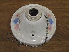Vintage 1920's Wall Ceiling Light Fixtures (3) Porcelain Porcelier Floral Design
