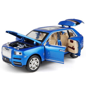 1/24 Rolls-Royce Cullinan SUV Diecast Model Car Toy Collectible Sound Light Gift