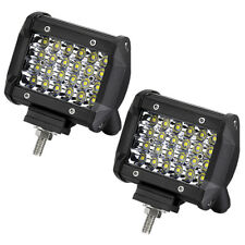120W Quad Row Spotlight Off-road LED Work Light Driving Fog Lamp Truck Boat 4WD