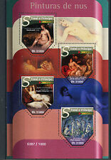 Sao Tome & Principe 2015 MNH Nude Paintings 4v M/S Rembrandt Cezanne Stamps