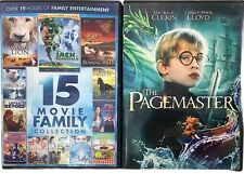 """2-DVD's: """"15 Movie Family Collection"""" & """" The Pagemaster"""" Kids, Movies, Like New"""