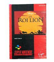 Notice jeu SNES Le Roi Lion Super Nintendo Livret Instruction Manuel
