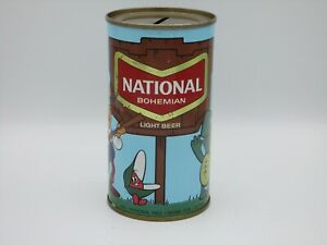 National Bohemian Light Flat Top Beer Can