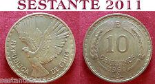 B5 CHILE CILE 10 CENTESIMOS CENTESIMI 1961 KM# 191