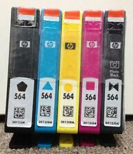 5(1 set)x GENUINE HP 564 INK CARTRIDGE for B110a/B109a/C5380/C6375/C6380
