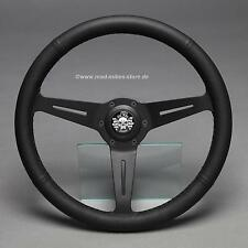 VOLANTE in Pelle Sport Volante Volante Pelle Nero 350mm AUDI 80 100 200 5t GT GLS