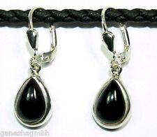 Ohrringe / Ohrhänger aus Silber 925 mit echtem Onyx / Sterlingsilber
