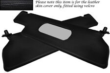 BLACK STITCH FITS RENAULT ALPINE GTA V6 2X SUN VISORS LEATHER COVERS ONLY