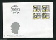 Schweiz Nr. 1402 VB Viererblock FDC aus Freimarkenserie Mensch und Beruf