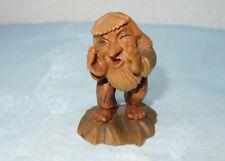 Anri - Gnom,geschnitzte Figur: Woodies - Der Rufer - Gnome Wood Carving
