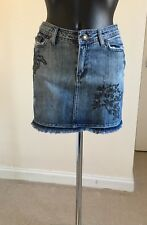 Womens Short Ripped/frayed Denim Skirt Size 8 Authentic Jeanswear