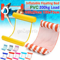 Inflatable Floating Water Hammock Pool Float Beach Lounge Bed Swimming Cha