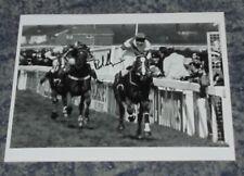 BOB CHAMPION - GRAND NATIONAL WINNING JOCKEY - ALDANITI  -10x8  PHOTO  SIGNED.2)