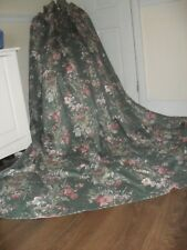 EXTRA LARGE VINTAGE CURTAINS +TIES HEAVY COUNTRY HOUSE FLORAL PRINT 100% COTTON