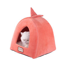 """Armarkat Condo Cat Bed in Orange and Ivory, 14"""" L X 14"""" W"""