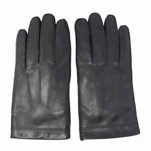 Isotoner Men's L Aris Genuine Leather Driving Gloves Brown Pull On Classic Glove