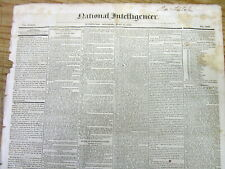 1836 displayable newspaper announcing the DEATH of Ex-President JAMES MADISON