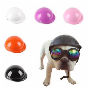 Pet Funny Dog Cool Motorcycles Bike Helmet Hat Sun Rain Protection Adjustable