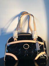 New Coach Black Patent Leather Tan Handles Trimmings Woman s Handbag RRP   358 002bdd1f0632f