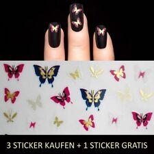 Nagelsticker Metallic Gold-Bunt Nail Sticker Aufkleber Tattoo Nageldesign Y204