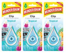 Wunderbaum® 3 Stück Clip Tropical Lufterfrischer Autoduft Duft Auto 3x12g