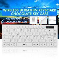 Ultradelgado Inalámbrico Teclado para Gaming Windows Mac PC Laptop + Receptor