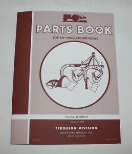 Ferguson AO Moldboard Plow Parts Book / List, Part Manual, Reference Guide