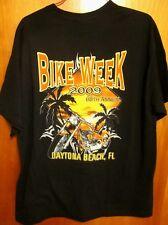 DAYTONA BIKE WEEK motorcycle lrg T shirt 2009 throwback tee Florida palm trees