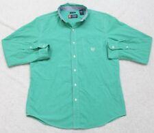 Ralph Lauren Dress Shirt Medium Button Up Long Sleeve Man's Top Green Pocket Men