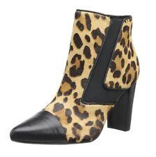 Donald Pliner Blis Leopard Black Natural Calf Hair Ankle Boots 6