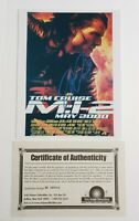 Tom Cruise Signed Photo 8x10 Autographed Mission Impossible 2 With COA