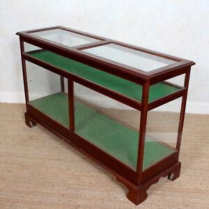 Antique Shop Display Cabinet Glazed Mahogany 19th Century Glass