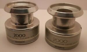 lot of 2 used Shimano  2000 Spinning Reel part aluminum spare spool