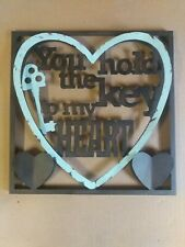 You Hold The Key To My Heart Metal Wall Plaque Sign 12x12