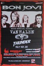 "40x60"" HUGE SUBWAY POSTER~Bon Jovi 1995 Tour w/Van Halen Ugly Kid Joe Wembley~"