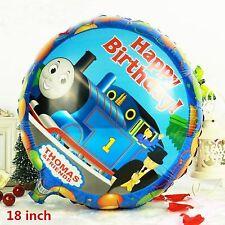"""Thomas the Tank Engine Happy Birthday foil balloon 18"""" 45cm     plus free ribbon"""