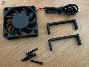 HP P420 SATA RAID SAS Card Cooler 60mm USB Fan, Mount Bracket Clip & Screws