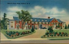 Mary E Hunt Residence Home in Nashua New Hampshire NH Postcard A14