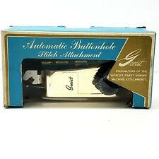Vintage Greist Automatic Buttonholer Style 4 includes Manual & Templates NOS