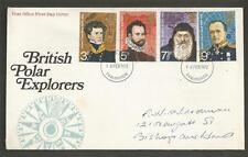 GREAT BRITAIN - 1972 British Polar Explorers     - F.D.COVER