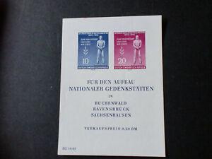 DDR Block 11 postfrisch mit kleiner Haftstelle 20 Euro