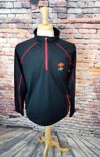Bobby Jones X-H20 Black 1/4 Zip Pullover KIAWAH LOGO Golf Softshell Jacket Sz M