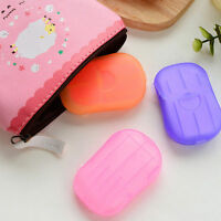 Hot Washing Slice Sheets Hand Bath Travel Scented Foaming 1 Box Paper Soap C