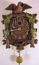 Vintage 1930's Lux Keebler Clock Co. Wall Cock With Bird And Nest